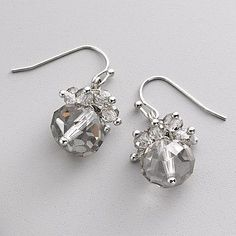 Simply Vera Vera Wang Silver Tone Cluster Drop Earrings