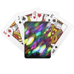 Colorful Ovals Playing Cards
