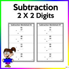 Utilize these worksheets to reinforce two digits by two digit subtractionThis resource includes 10 pages ( 4 items per page) of worksheets and answer key.Check out our other Math resources. Click on the link below.Math resources...