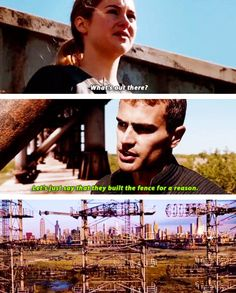 About the fence find out in allegiant what it really is Divergent Hunger Games, Divergent Fandom, Divergent Trilogy, Divergent Insurgent Allegiant, Divergent Facts, Divergent 2014, Divergent Dauntless, Insurgent Quotes, Divergent Quotes