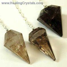 Pendulum - Smokey Quartz Faceted Pendulums- Smokey Quartz - Healing Crystals