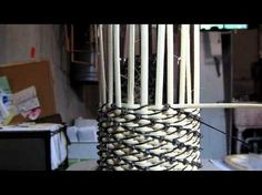 basket weaving - a beautiful technique, not w newspaper, but it could be applied, the clip is very clear.