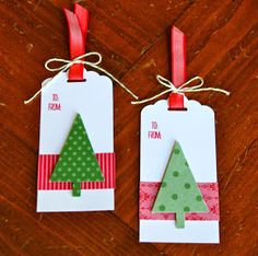 Krystal's Cards: Festival of Trees on Girl's Night Holiday Gift Tags, Christmas Gift Wrapping, Holiday Cards, Noel Christmas, Christmas Paper, Christmas Cards, Tarjetas Diy, Handmade Gift Tags, Christmas Tags Handmade