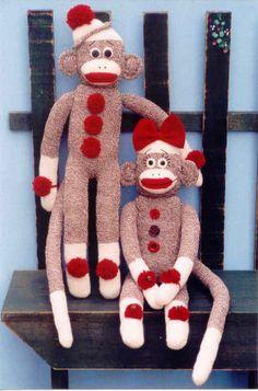 Boy & Girl Sock Monkey