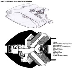 Deckplans for a Freetrader vessel from the Dark Nova RPG, copyright Dark Nova Games. A typical armed merchantman, the Avro C-23 Gockstadt is popular among Freetraders that need to haul a lot of car...