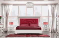 06. Dormitorio de matrimonio que aúna estilo y elegancia apostando por el buen gusto para dar carácter al hogar, acabado en laca alto brillo. Cabezal: 182 cm