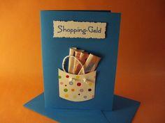 Money for shopping Geldgeschenke - Barbara Otto - Cadeau Best Birthday Gifts, Birthday Cards, Birthday Favors, Don D'argent, Creative Money Gifts, Folding Money, Diy And Crafts, Paper Crafts, Money Cards