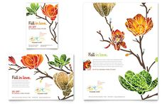 Flower Shop Flyer and Ad Design Template by StockLayouts