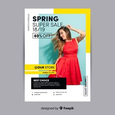 Photographic spring sale poster Free Vector Source by andreweato Creative Poster Design, Graphic Design Posters, Creative Flyers, Flyer Design, Layout Design, Web Banner Design, 2020 Design, Photoshop, Adobe Illustrator