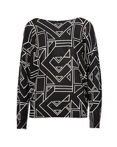 Geometric-Print Sweater - Lauren Petite Sweaters - RalphLauren.com