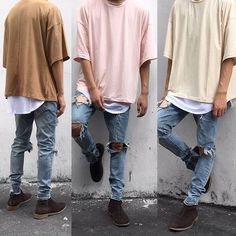 oversized summer Tee, peach, TAUPE,sand, stone and olive colors available… Dope Fashion, Urban Fashion, Fashion News, Mens Fashion, Fashion Check, Urban Outfits, Casual Outfits, Fashion Outfits, Streetwear Fashion