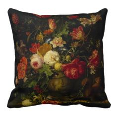 Vintage Floral Elegant Pillow from a famous Artist painting.  - JH