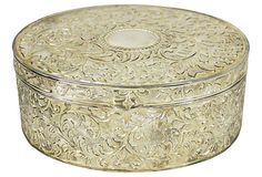 Silverplate Velvet Lined Jewelry Box