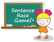 Entertaining ESL sentence race games to motivate your students to learn new vocabulary, grammar and sentence structure.