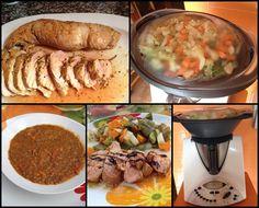 LENTEJAS GUISADAS Y SOLOMILLO CON MENESTRA DE VERDURAS Sweet Recipes, Mashed Potatoes, Sausage, Menu, Tasty, Lunch, Chicken, Dinner, Meals