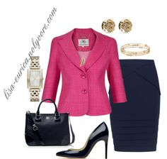 """""""Pink & Navy"""" by lisa-eurica ❤ liked on Polyvore"""