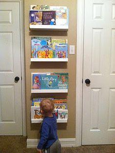Book shelves http://thefamilycraft.blogspot.com/2012/01/little-library.html