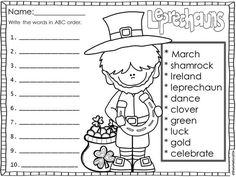 Patrick's Day freebie - to make your students feel extra LUCKY! Teaching Activities, Classroom Activities, Holiday Activities, Classroom Ideas, Teaching Ideas, St Patrick Day Activities, Making Words, 2nd Grade Reading, St Paddys Day