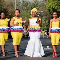 Related image African Traditional Wedding Dress, African Wedding Dress, Pedi Traditional Attire, African Wear, Peplum Dress, Image, How To Wear, Fashion, Moda