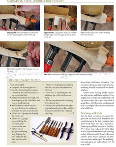 Carving a Trifid Foot - Furniture Legs Construction Wood Carving