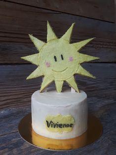 Happy sun baby smash cake made raw vegan and gluten-free, by Sweet Little Sirin