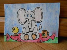 Harry Potter inspired art  Elephant painting by CuteCreationsByLea, $8.00