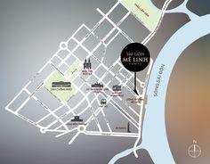 Vị trí dự án căn hộ Sài Gòn Mê Linh Tower - căn hộ hạng sang 4 mặt tiền Quận 1