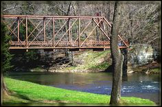 Historic bridge over the Little Beaver in Beaver Creek State Park, Columbiana County, Ohio. Buckeye Tree, The Buckeye State, Dancer In The Dark, East Liverpool, Ohio Buckeyes, Missing Home, Beaver Creek, Half Life, Book Challenge