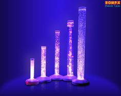 Sensory Room Bubble Tubes - Purple