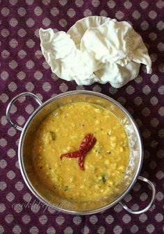 Chana Dal Subji | Chana Dal Kootu | Ridge Gourd kootu