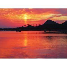 【yuzukalonlon】さんのInstagramをピンしています。 《#ただいま #半日だけの里帰り #やっぱり故郷はいいなぁ #ドライブ  思わず車を止めて海に向かって走り出していた私 #ボラ が #水面 から飛び跳ねていた #故郷 #あまくさ #熊本 #空 #夕暮れ時 #美しい #風景  今日の #夕焼け #美しすぎだ ✨#海 まで #真っ赤 に染まっていた  I returned to the #hometown with  #mom only in half day  #kumamoto #amakusa #sky #sea #sunset #japan #imhome #beautiful #red》