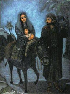 THE LAST NIGHT IN EGYPT oil on canvas 70x90cm  by artist Daniel de Quelyu. Surabaya-INDONESIA