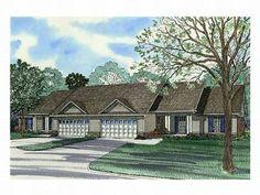 Duplex House Plan, 025M-0016