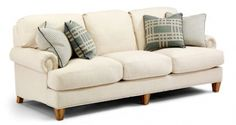 Top Seller - Flexsteel 7308-31 Luxury Fabric Sofa - WOODS FURNITURE