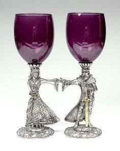 purple champagne flutes | Purple Champagne Flutes, Toasting Glasses and Communion Cups