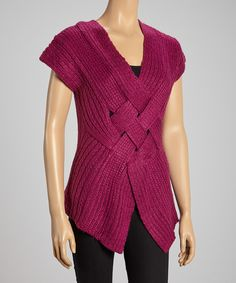 Basket-Weave Sweater Vest