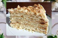 """""""Napoleon"""" cake with condensed milk."""