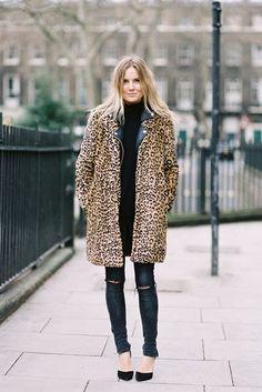 Vanessa Jackman: London Fashion Week AW 2013....Lucy #leopard