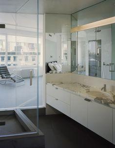Libeskind loft by Alexander Gorlin Architects World Trade Center Site, Apartment Interior Design, Contemporary Interior Design, Double Vanity, Bathtub, Loft, House Design, Architecture, Projects