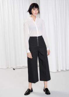 & Other Stories | O-Ring Zip Culotte Trousers