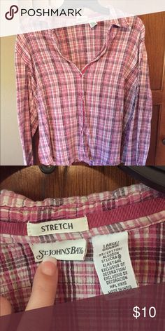 St John's Bay long sleeve button shirt St John's Bay long sleeve stretch button down shirt. **PLEASE MAKE AN OFFER** St. John's Bay Tops Button Down Shirts
