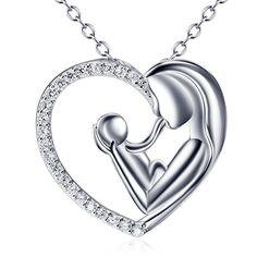 Anhänger für Halskette Katzen Mutter /& Kind echt Silber 925 Zirkonia Damen