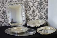 Metal trays - Hire from www.thevintageDIYbride.com