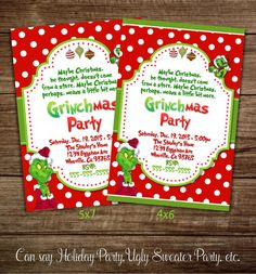 The Grinch Christmas Party.Pinterest