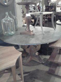 61 best zinc topped tables images zinc table dining tables rh pinterest com