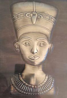 Embossed Pewter Nefertiti