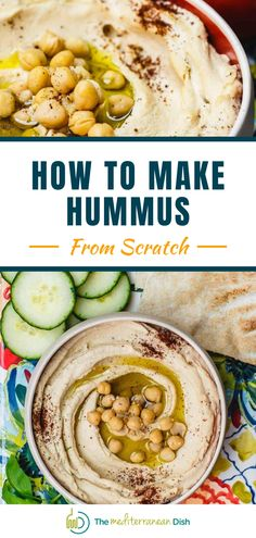 Learn how to make hummus like a pro! This is an easy family recipe for amazing tasting Hummus! This is a perfect appetizer or just a weekend snack for any time! Classic Hummus Recipe, Best Hummus Recipe, Make Hummus, Homemade Hummus, Easy Family Meals, Easy Meals, Mediterranean Dishes, Mediterranean Appetizers, Healthy Recipes