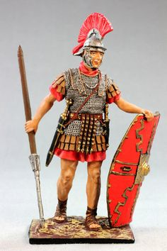 Roman tin toy soldier, 54mm, hand-painted, figurine, St.Petersburg 5