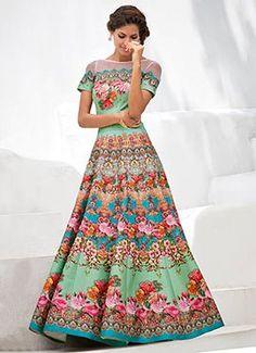 Light Green Anarkali Gown