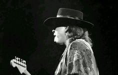 Stevie Ray Vaughan performing at the Oakland Coliseum - Dec 3,1989.
